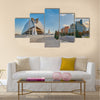 Opera house of City of Arts & Sciences complex in Valencia in sunset light multi panel canvas wall art