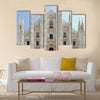 Facade of Milan Cathedral (Duomo), Lombardy, Italy Multi Panel Canvas Wall Art