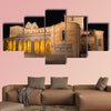 Avila-The romanesque Basilica de San Vicente at night, Multi Panel Canvas Wall Art