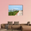 Historic defensive wall of Cartagena, Colombia multi panel canvas wall art