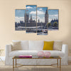 View Of The big Ben And The Houses Of The Parliament,United Kingdom, Multi Panel Canvas Wall Art