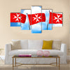 Malta knights flag, 3D rendering Multi Panel Canvas Wall Art