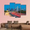 Dallas downtown skyline at twilight, Texas USA multi panel canvas wall art