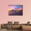 People enjoy the Ipanema Beach at Sunset in Rio de Janeiro multi panel canvas wall art