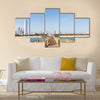 Wooden Pier, Kuwait Multi Panel Canvas Wall Art