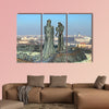 Sculpture of Prince Buda and Princess Pest multi panel canvas wall art