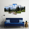 Summer mountain valley, Kazakhstan, Tyan-Shan Mountains Multi Panel Canvas Wall Art