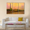 Original oil painting of effiel tower paris Multi Panel Canvas Wall Art