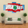 The Vector Illustration Of The Flag Of The Lebanon Multi Panel Canvas Wall Art