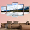 River and Mountain Range in Kootenay, Canadian Rockies wall art