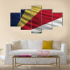 The national flag of seychelles islands Multi panel canvas wall art