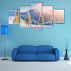 A Magical Winter Snow Covered Tree Multi Panel Canvas Wall Art