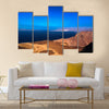 Gulf Of Tadjoura And Ghoubet Lake In Djibouti Multi Panel Canvas Wall Art