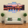 The Vatican city state at night in Rome Italy Multi panel canvas wall art