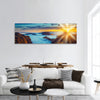 Sunset over the mountains, Madeira Island, Portugal panoramic canvas wall art