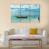 Beautiful seascape with fishing boats near African coast Multi Panel Canvas Wall Art