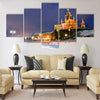 Scenic winter view the Uspenski Orthodox Cathedral Multi panel canvas wall art