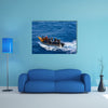 Lane of tourists travelling in the boat in Algeria Multi panel canvas wall art