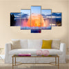 A Very Beautiful View Of A Magic Fountain In Spain Multi Panel Canvas Wall Art
