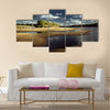 landscape on the river, the beach on the river Pripyat Multi panel canvas wall art
