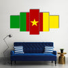 Flat Cameroonian flag Multi panel canvas wall art