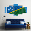 Flag of Solomon Islands - vector illustration Multi panel canvas wall art