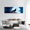 Howling Wolf Panoramic Canvas Wall Art