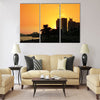 Sunset over the Corniche in Doha, Qatar Multi panel canvas wall art