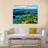Panoramic View Of A Rock Of Guatape In Columbia, Multi Panel Canvas Wall Art