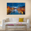 Grand Canal at night, Venice multi panel canvas wall art