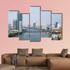 View on the skyline of the city in Bangkok, Thailand multi panel canvas wall art
