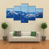Landscape of Pyrenees mountains at winter time Multi panel canvas wall art