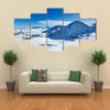 mountains at winter time Landscape of Pyrenees Multi panel canvas wall art