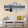 Panorama of Tengrela Lake in Burkina faso Multi panel canvas wall art
