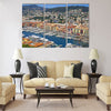 Bird view panorama of Port of City of Nice Multi Panel Canvas Wall Art