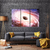 The Gas Nebula Around The Black Hole In Galaxy Multi Panel Canvas Wall Art