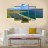 Panoramic view of Majors Bay Beach on St Kitts Multi panel canvas wall art
