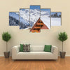 Chad with snow in Austrian Alps with mountain view Multi panel canvas wall art