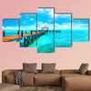 Exotic Caribbean island. Tropical beach resort. Travel or vacations wall art