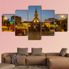 A crowd gathers to watch a Champeta in Cartagena, Colombia multi panel canvas wall art