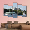 Lake Alster in Hamburg, Germany multi panel canvas wall art