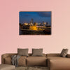 Blue hour long exposure view of Cartagena's colonial wall multi panel canvas wall art