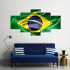 Grunge Colorful Background For Flag Of Brazil Multi Panel Canvas Wall Art