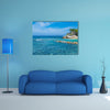 Clear Caribbean Water off Tropical Island of Haiti Multi panel canvas wall art