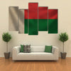 The Vintage Background With Flag Of Madagascar, Multi Panel Canvas Wall Art