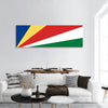 Flag of Seychelles panoramic canvas wall art