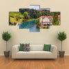 A Landscape With Aare River In Bern Is Adding Beauty To The Environment, Switzerland, Multi Panel Canvas Wall Art