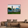New swan stone castle sunset landscape multi panel canvas wall art