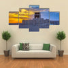 Old city wall of Khiva, in sunset Uzbekistan Multi panel canvas wall art