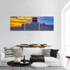 Old city wall of Khiva, Uzbekistan in sunset panoramic canvas wall art